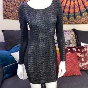 H&M black mini dress